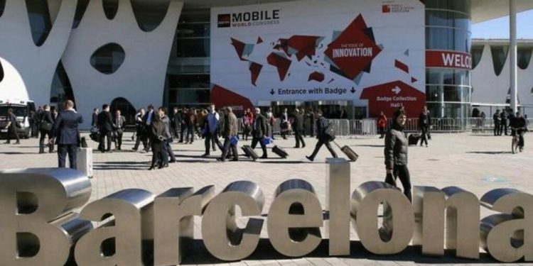 Entrada al Movile World Congress de Barcelona.